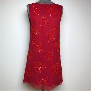 ALICE + OLIVIA RED SEQUIN DRESS